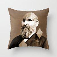 weird Throw Pillows featuring Weird by Bakus