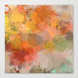 Modern contemporary Yellow Orange Abstract Canvas Print