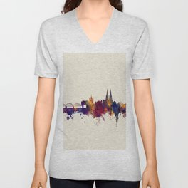 Cologne Germany Skyline Unisex V-Neck