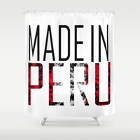 peru Shower Curtains featuring Made In Peru by VirgoSpice