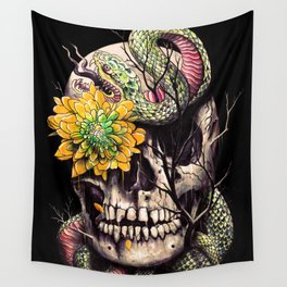 Snake and Skull Wall Tapestry