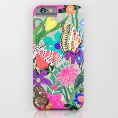 Butterflies and Moths Pattern - Grey Slim Case iPhone 6s