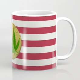 In Weed We Trust - Coin on USA flag Coffee Mug