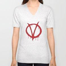 V for Vendetta2 Unisex V-Neck