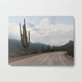 Saguaro Dirt Road Metal Print
