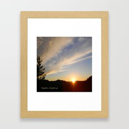 Top of the Summit Sunset Framed Art Print