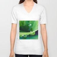 bubbles V-neck T-shirts featuring bubbles by Bonnie Jakobsen-Martin