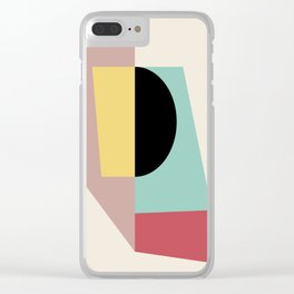 Geometric Shapes Abstract Clear iPhone Case