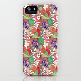 Guacamayas (Macaws) - (red.peach.green) iPhone Case