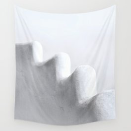 White and Minimal Wall Tapestry