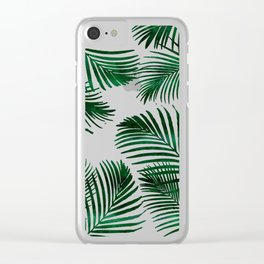 Tropical Palm Leaf Clear iPhone Case