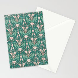 Damask Pheasants and Lilies Stationery Cards