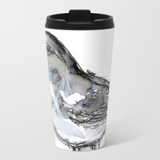 Bird with Heart Echo, Watercolor Travel Mug