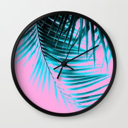 Palm Leaves Summer Vibes #3 #tropical #decor #art #society6 Wall Clock