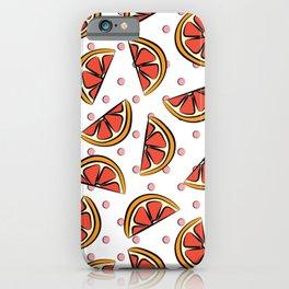Cheerful grapefruit, blood orange pop art pattern iPhone Case