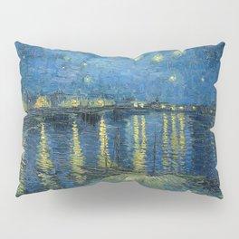 Van Gogh, Starry Night Over The Rhone Artwork Reproduction, Posters, Tshirts, Prints, Bags, Men, Wom Pillow Sham
