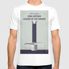 No751 My King Arthur Legend of the Sword minimal movie poster White Mens Fitted Tee MEDIUM