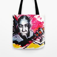 allyson johnson Tote Bags featuring Robert Johnson by Matteo Lotti