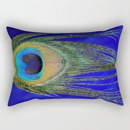 Peacock Feather Macro Rectangular Pillow