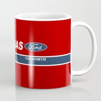 f1 Mugs featuring Haas F1 Team 1986 by Krakenspirit