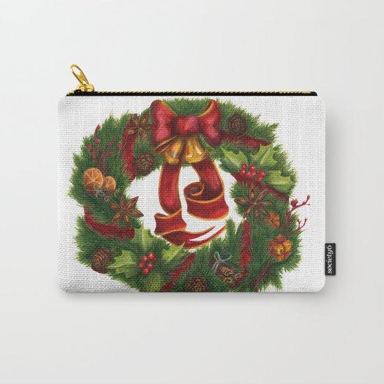 Christmas wreath. Art nouveau. Carry-All Pouch