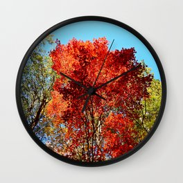 Red Maple in October Wall Clock