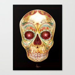 WICKED SKULL Canvas Print