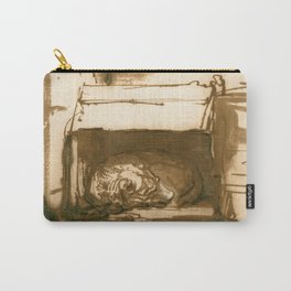 Rembrandt - Sleeping Watchdog (1640) Carry-All Pouch