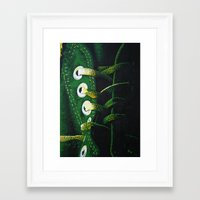 sneaker Framed Art Prints featuring Converse Sneaker  by Natalie Ledbetter