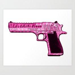 Pink Desert Eagle Modern Art Art Print