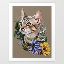 Cat : Catnip Art Print