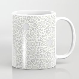 White Moroccan Tiles Pattern Coffee Mug