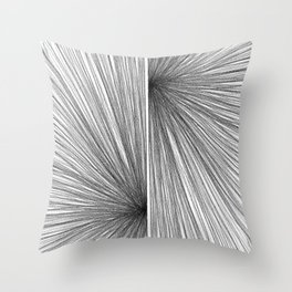 Mid Century Modern Geometric Abstract Radiating Lines Throw Pillow