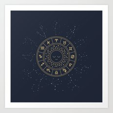 Zodiac Signs Wheel Art Print