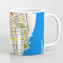 Map of Charleston, SC Coffee Mug