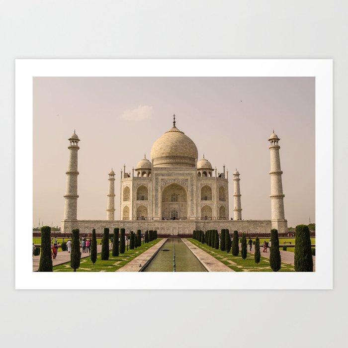 ArtWork Taj Mahal India PhotoArt Art Print