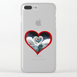 Swans at Heart Clear iPhone Case