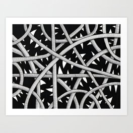 Cords and Spikes Art Print