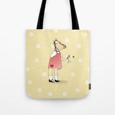 Little Horse Girl Tote Bag
