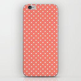Dots (White/Salmon) iPhone Skin