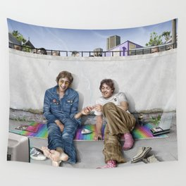 John and Paul get away from it all Wall Tapestry