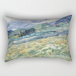 Vincent van Gogh - Landscape from Saint-Rémy Rectangular Pillow