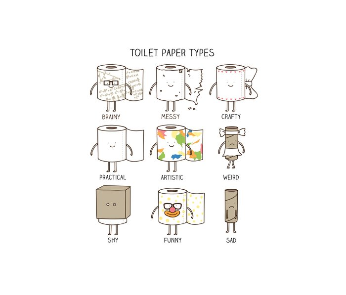 toilet paper types Metal Travel Mug