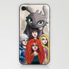 RISE OF THE BRAVE TANGLED DRAGONS iPhone & iPod Skin