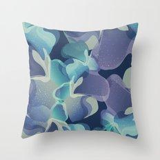 Micro Blue Throw Pillow