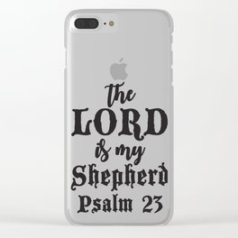 Psalm 23 Clear iPhone Case