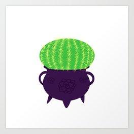 Spiky Cactus Art Print