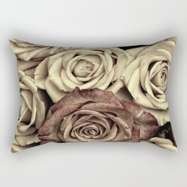 Brown Roses Rectangular Pillow