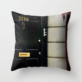221B Baker Street BBC Sherlock Throw Pillow