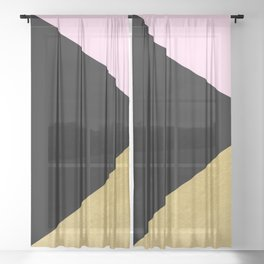 Color Block Glam Triangles Sheer Curtain